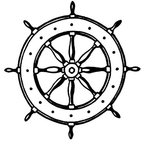 Ship steering wheel clipart black and white image download captain\'s wheel tattoo | Wheel Ship | Ink | Wheel tattoo ... image download