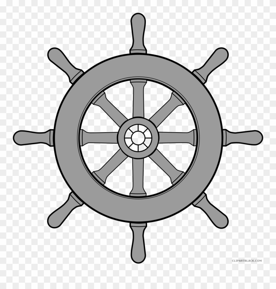 Ship steering wheel clipart black and white svg library library Svg Black And White Download Page Of Clipartblack Com - Boat ... svg library library