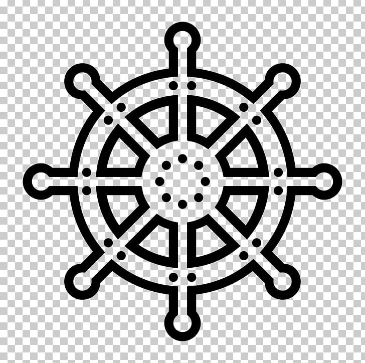 Ship steering wheel clipart black and white vector black and white library Ship\'s Wheel Computer Icons Steering Wheel PNG, Clipart ... vector black and white library