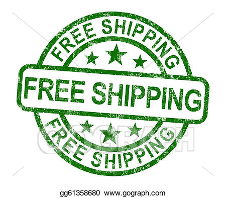 Shipping charge clipart picture free download Stock Illustration - Free shipping stamp showing no charge ... picture free download
