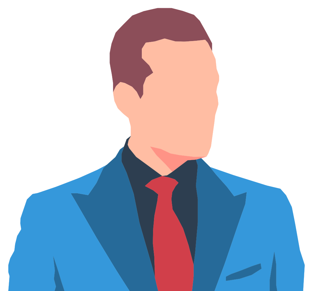 Shipping receiving avatar clipart png library library OnlineLabels Clip Art - Faceless Male Avatar In Suit png library library