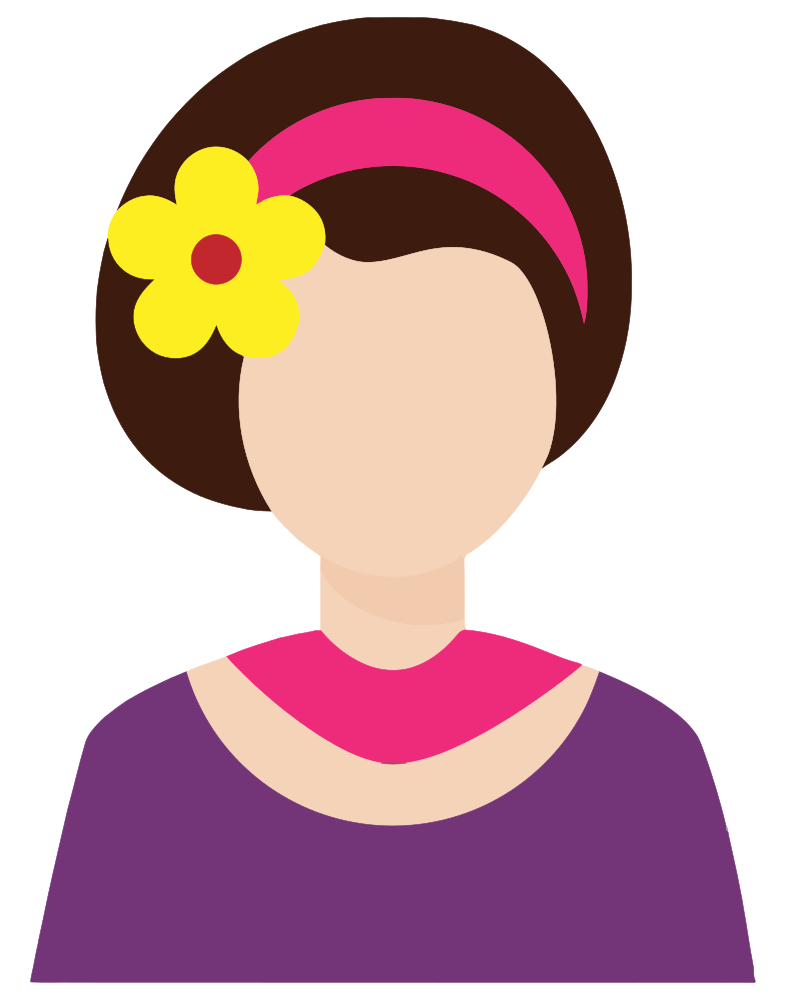 Shipping receiving avatar clipart jpg free download OnlineLabels Clip Art - Female Avatar With Flower In Hair jpg free download