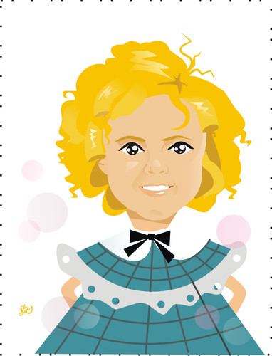 Shirley temple clipart image transparent download Shirley Temple By Nicoleta Ionescu | Famous People Cartoon ... image transparent download