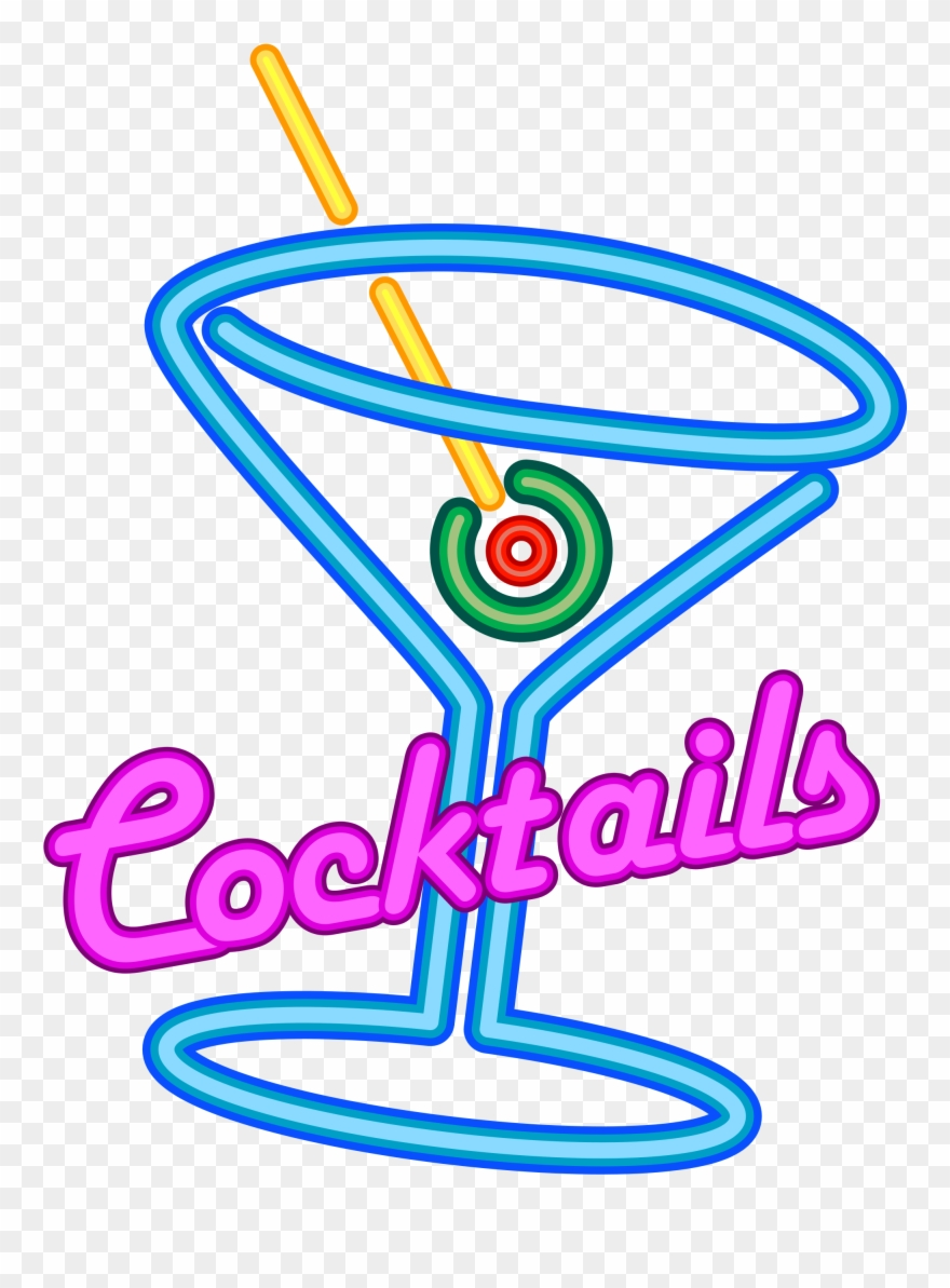 Shirley temple clipart image library stock Cocktail Clipart Shirley Temple - Neon Cocktail Sign Png ... image library stock
