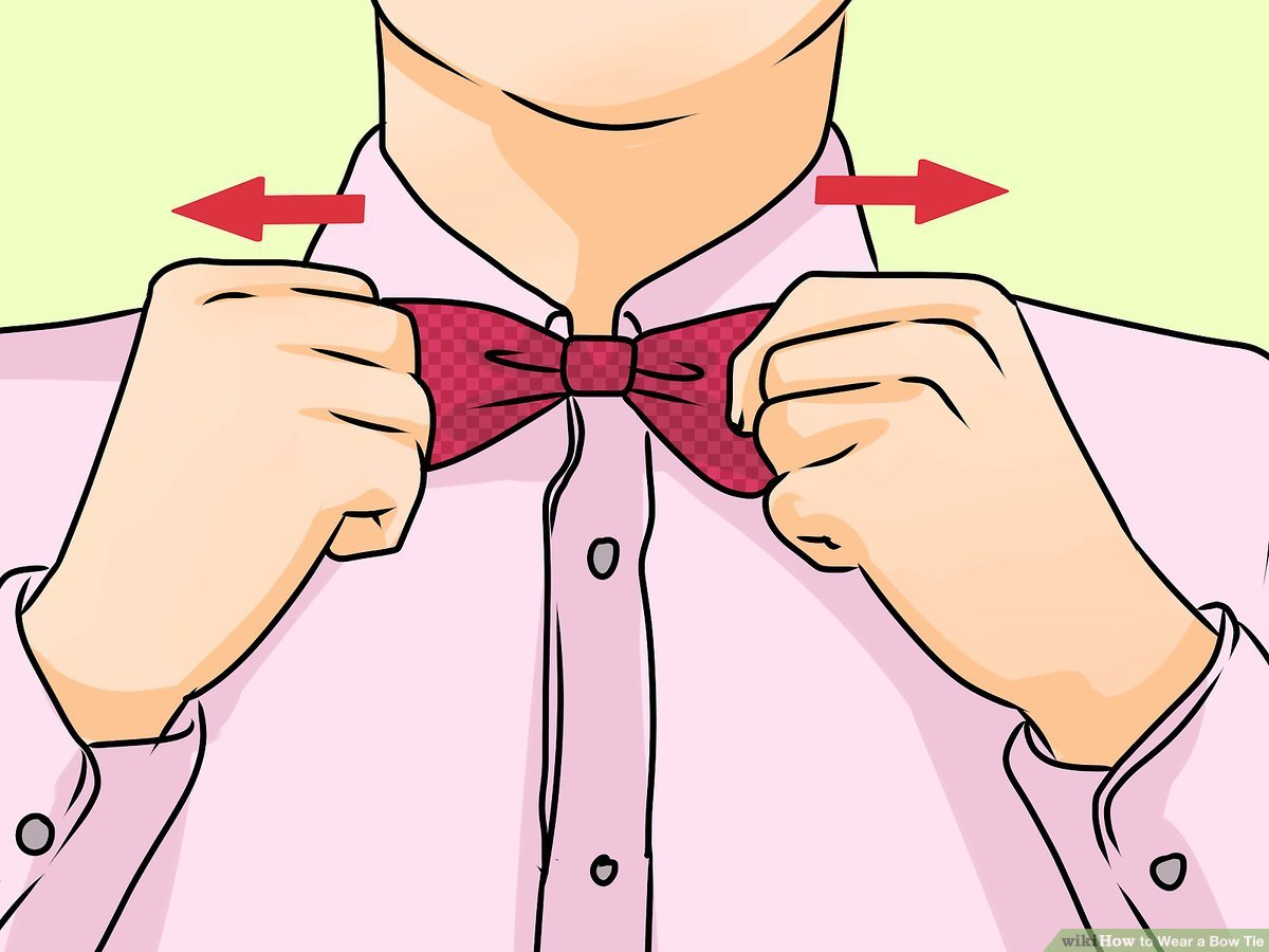 Shirt and bowtie clipart graphic black and white download How to Wear a Bow Tie: 14 Steps (with Pictures) - wikiHow graphic black and white download