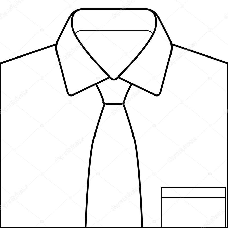 Shirt and tie clipart black and white png black and white stock Download shirt with tie image clip art clipart Necktie Clip art png black and white stock