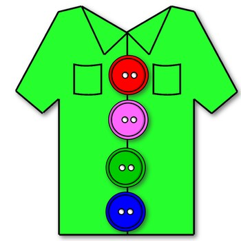 Shirt buttons clipart clipart freeuse library Button and Shirt Clip Art Pack clipart freeuse library