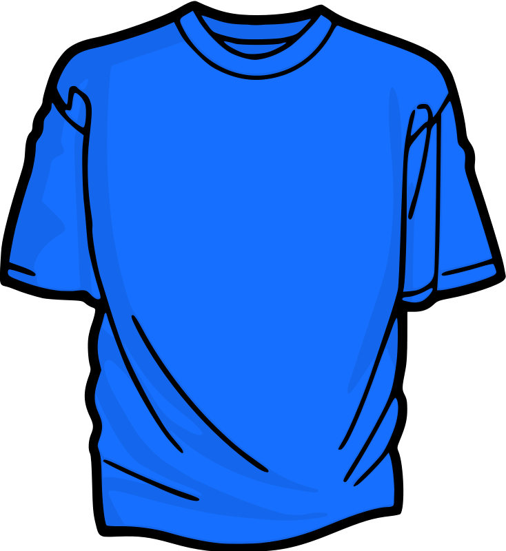 Shirt clipart image clipart library stock Free Clipart: Azure T-Shirt | kuba clipart library stock