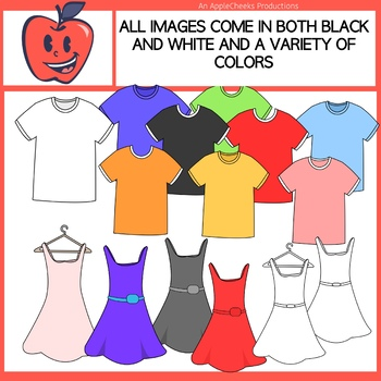 Shirt pants and socks clipart black and white stock Clothing Clip Art Dresses, Shoes, Tee-Shirts, Socks, Pants. Jerseys, Set 1 black and white stock