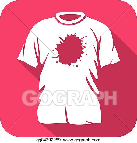 Shirt that has a red stain clipart clipart black and white download Vector Art - Stains on t-shirt flat icon. Clipart Drawing ... clipart black and white download