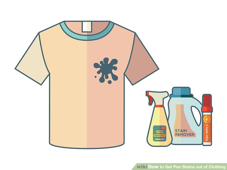 Shirt that has a red stain clipart clipart free library 4 Ways to Get Pen Stains out of Clothing - wikiHow clipart free library