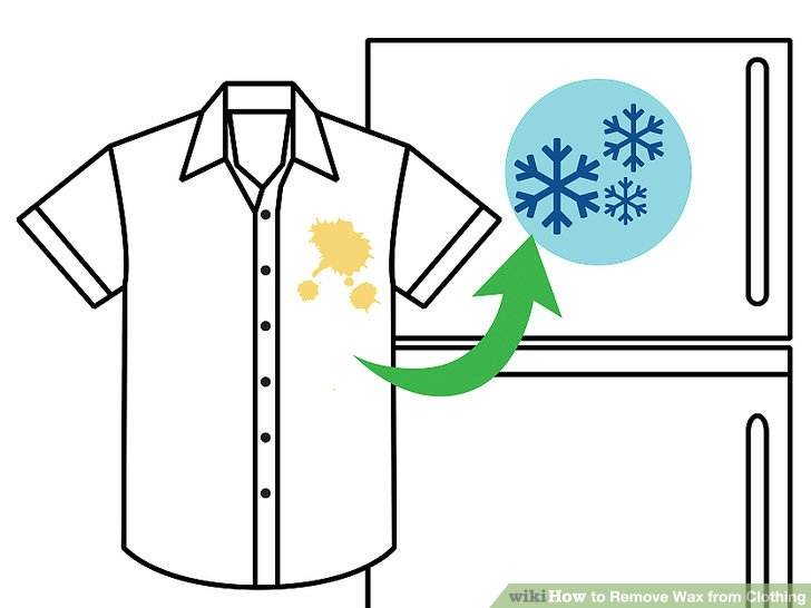 Shirt that has a red stain clipart vector royalty free stock The Best Way to Remove Wax from Clothing - wikiHow vector royalty free stock