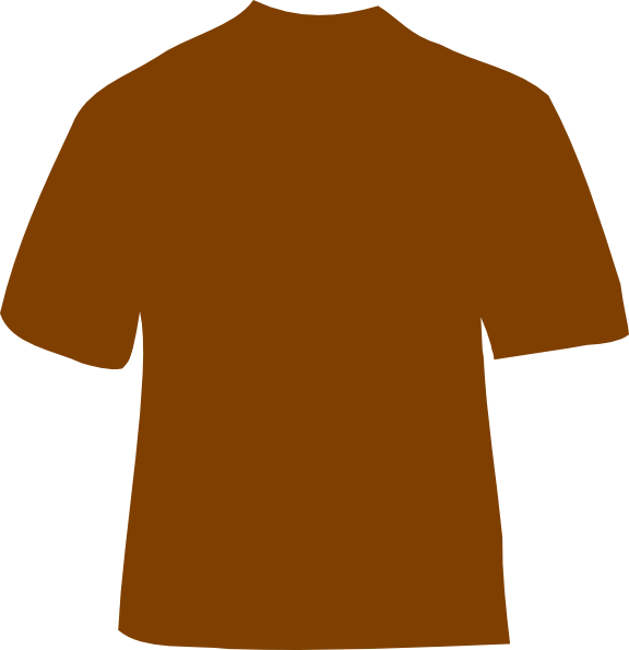 Shirt with cross clipart vector black and white Brown T-shirt Clip Art at Clker.com - vector clip art online ... vector black and white
