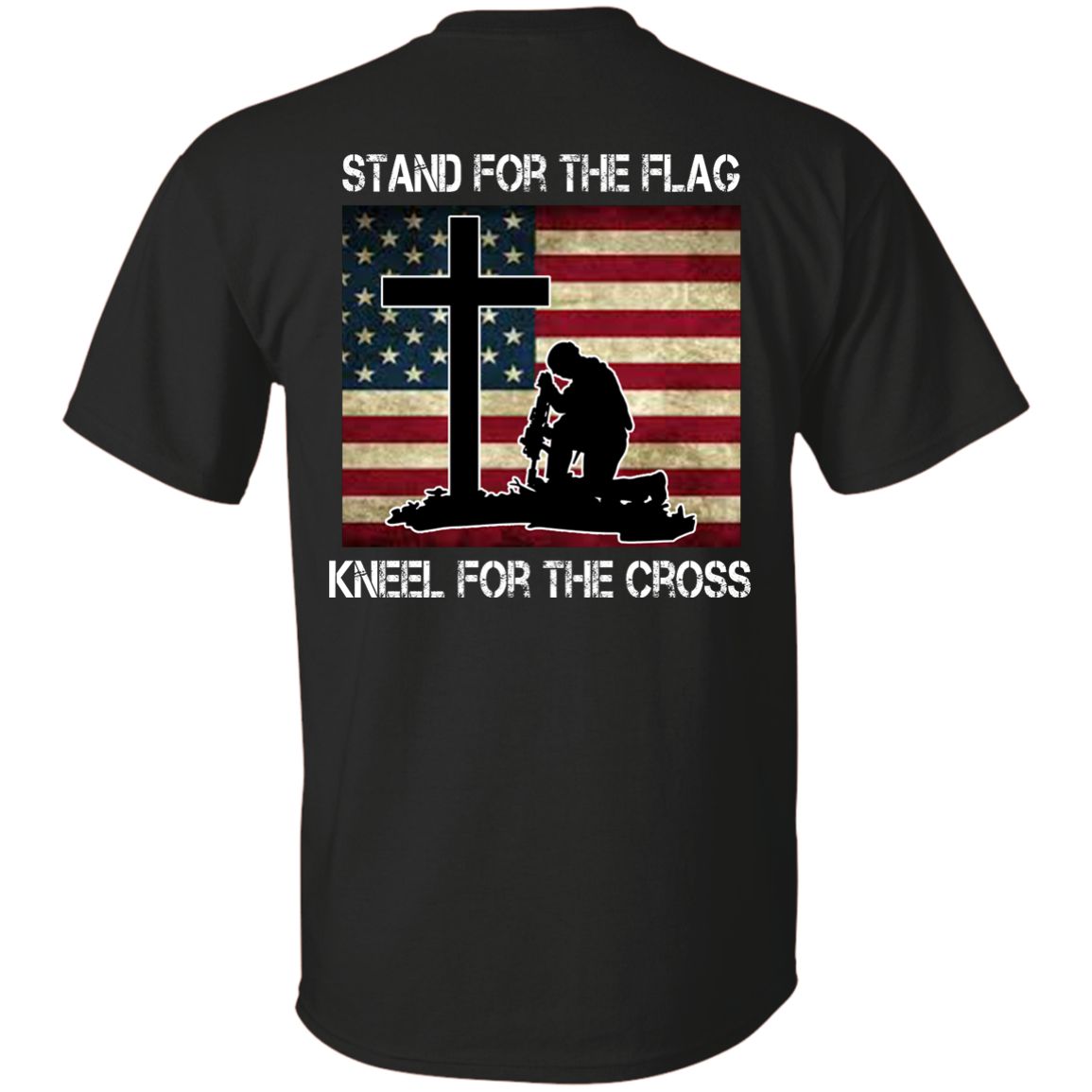 Shirt with cross clipart transparent library Stand for the Flag, Kneel for the Cross T-shirt Back Side | Pinterest transparent library