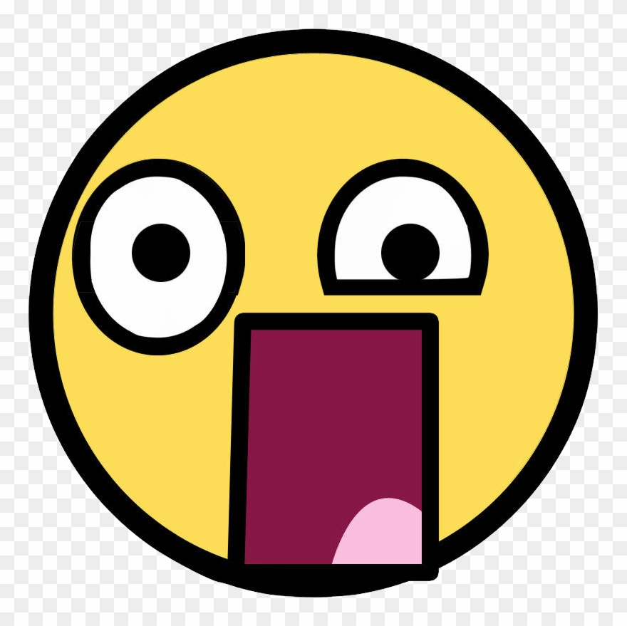 Shocked happy face clipart graphic black and white stock Smiley Png - Wtf Awesome Face Clipart (#1277632) - PinClipart graphic black and white stock