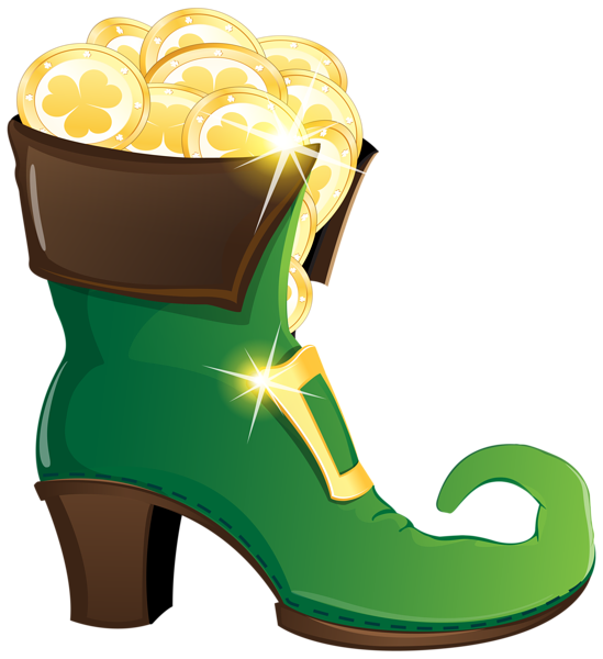 Shoe house clipart vector library stock Leprechaun Shoe with Gold Coins PNG Clipart Image   ClipArt ... vector library stock