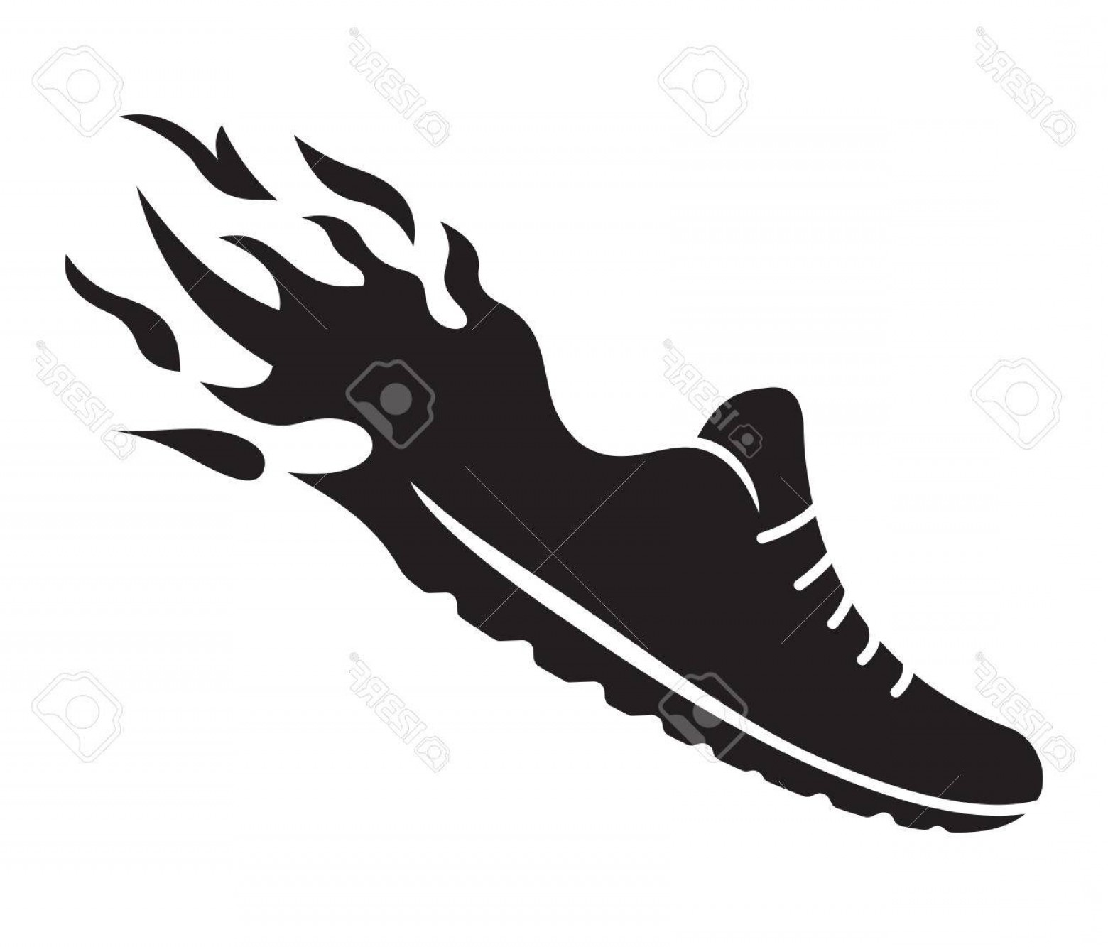 Shoe on fire clipart svg transparent library Photostock Vector Running Shoes In Fire Icon | SOIDERGI svg transparent library