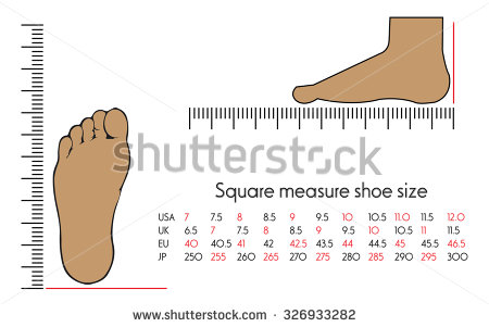 Shoe size clipart vector black and white Foot Measure Stock Photos, Royalty-Free Images & Vectors ... vector black and white