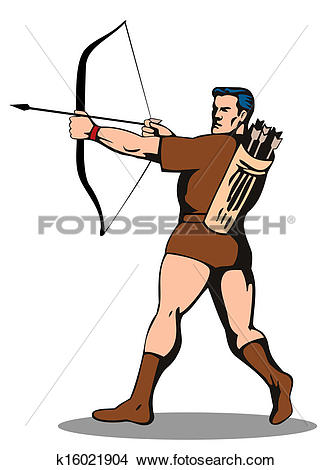 Shooting arrow clipart banner library download Drawings of Archer Shooting Arrow k16021904 - Search Clip Art ... banner library download