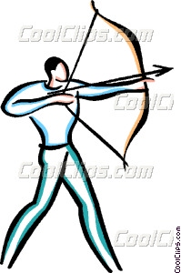 Shooting arrow clipart picture library library Man shooting bow and arrow Vector Clip art picture library library