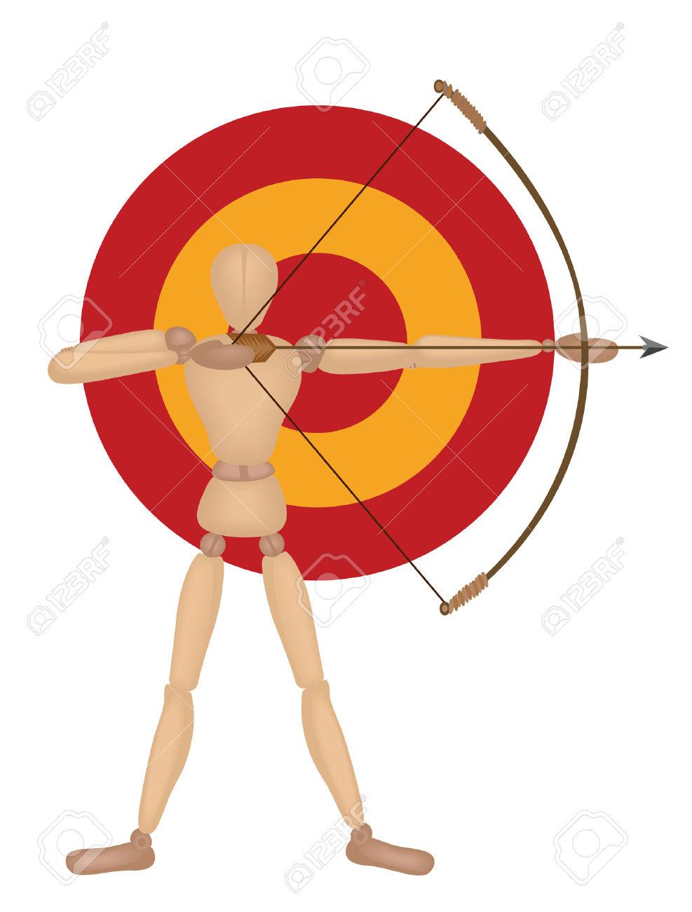 Shooting arrow clipart vector free stock Mannequin Series: Shooting Arrow Royalty Free Cliparts, Vectors ... vector free stock