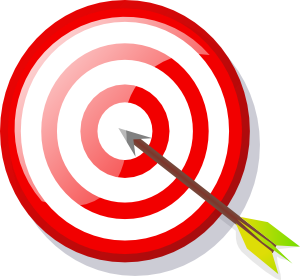 Shooting arrow clipart picture free library Target With Arrow Clip Art at Clker.com - vector clip art online ... picture free library