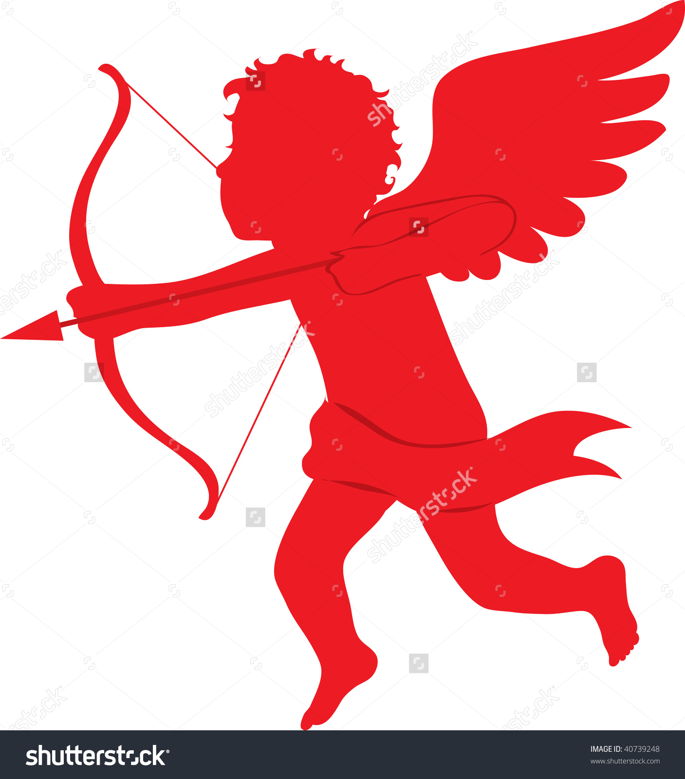 Shooting arrow clipart clip art free download Clip Art Illustration Red Silhouette Cupid Stock Illustration ... clip art free download
