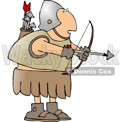 Shooting arrow clipart svg free stock Roman Army Soldier Shooting a Bow and Arrow Clipart © Dennis Cox #5074 svg free stock