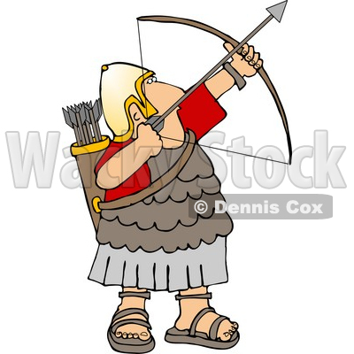 Shooting arrow clipart vector black and white Army Soldier Shooting a Bow and Arrow Clipart © Dennis Cox #5074 vector black and white