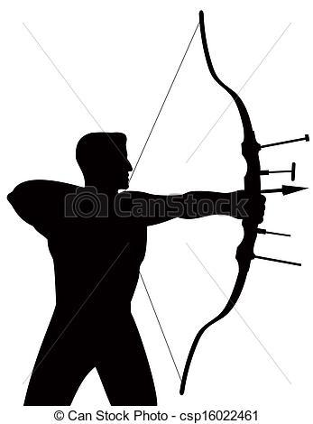 Shooting arrow clipart image freeuse stock Stock Illustration of Archer Shooting Arrow - Illustration of ... image freeuse stock
