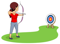 Shooting arrow target clipart png free library Free Sports - Archery Clipart - Clip Art Pictures - Graphics ... png free library