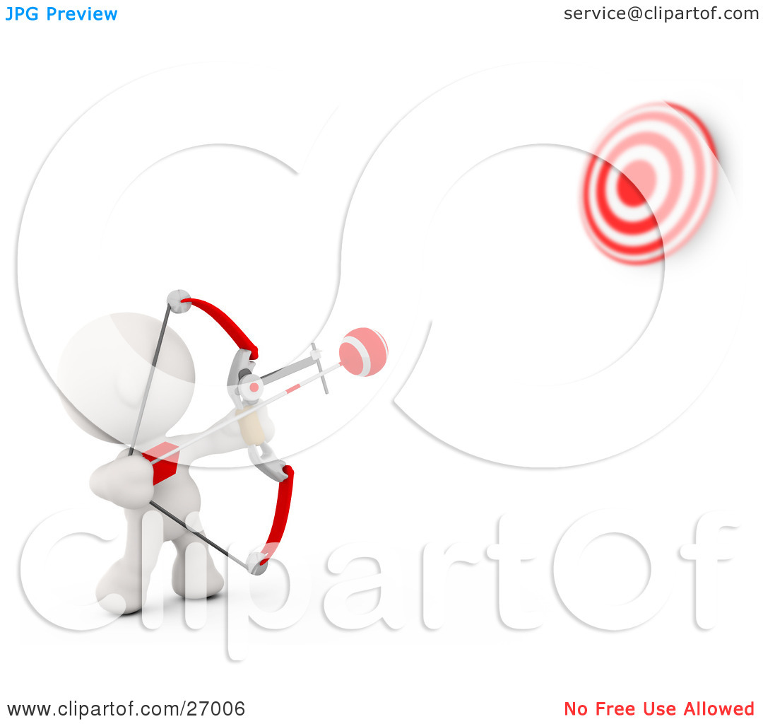 Shooting arrow target clipart svg black and white Clipart Illustration of a White Meta Man Shooting Arrows At A ... svg black and white