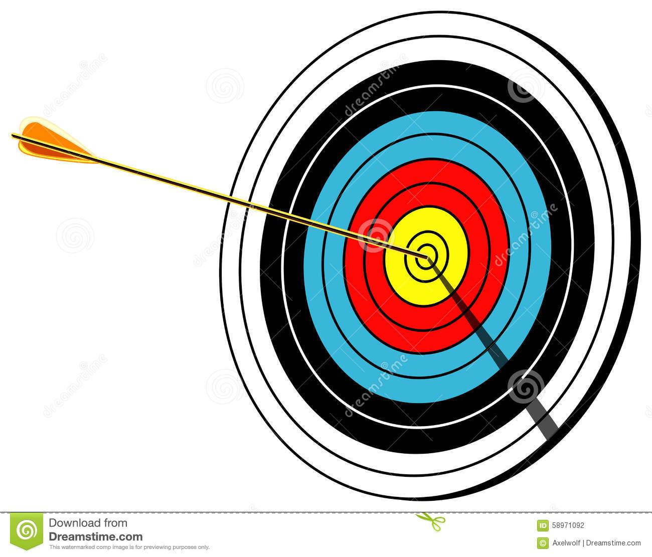 Shooting arrow target clipart transparent stock Archery Bullseye Clipart - Clipart Kid transparent stock