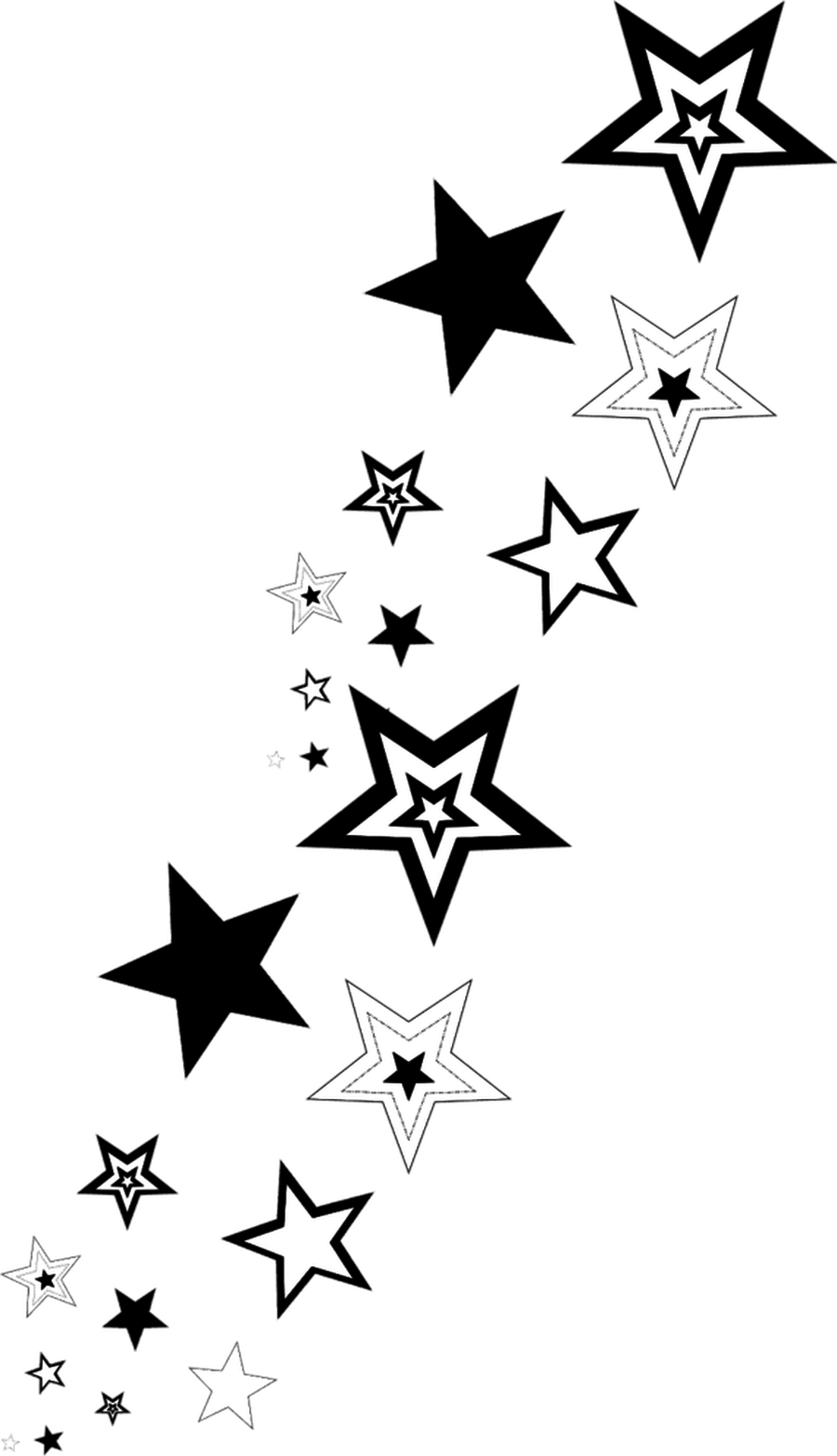 Star clipart black and white border graphic free Free Shooting Stars Clipart - Clip Art Library graphic free
