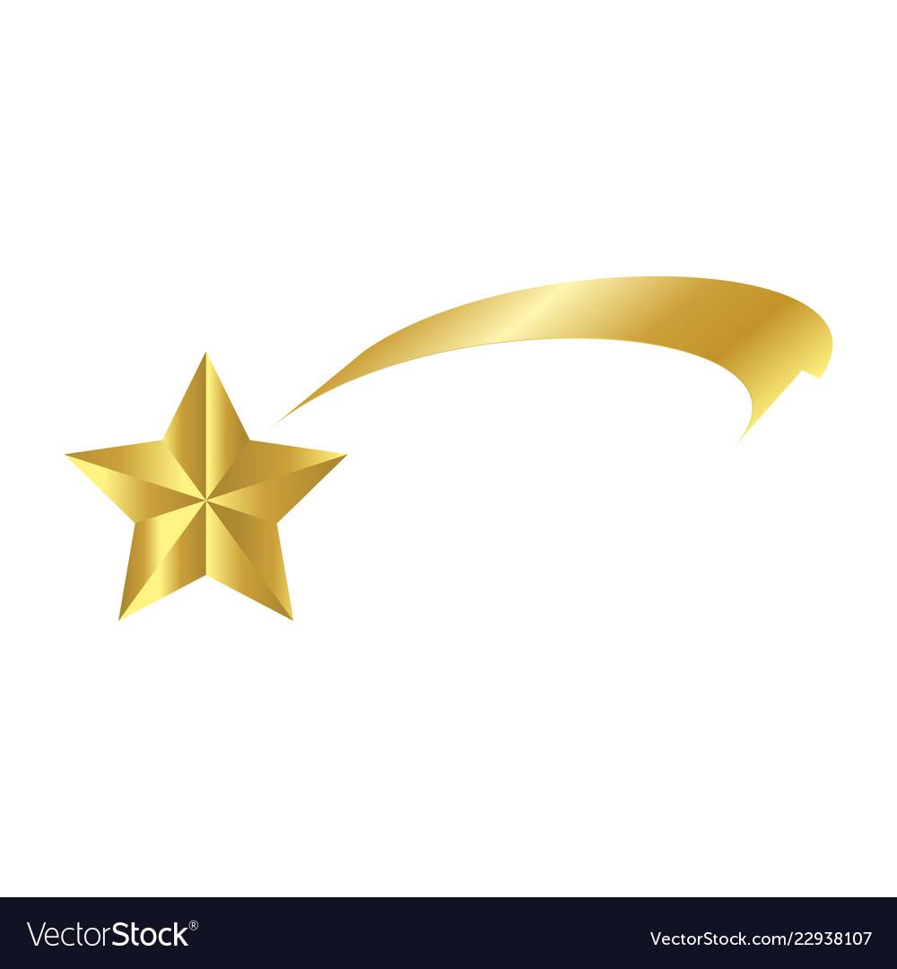 Shooting star logo clipart vector library download Christmas ribbon shooting star icon symbol design vector library download