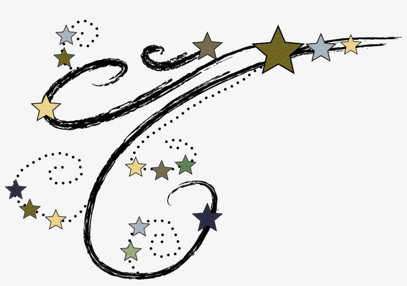 Shooting stars border clipart vector Clip Stock Shooting Star Border Pencil And In Color ... vector