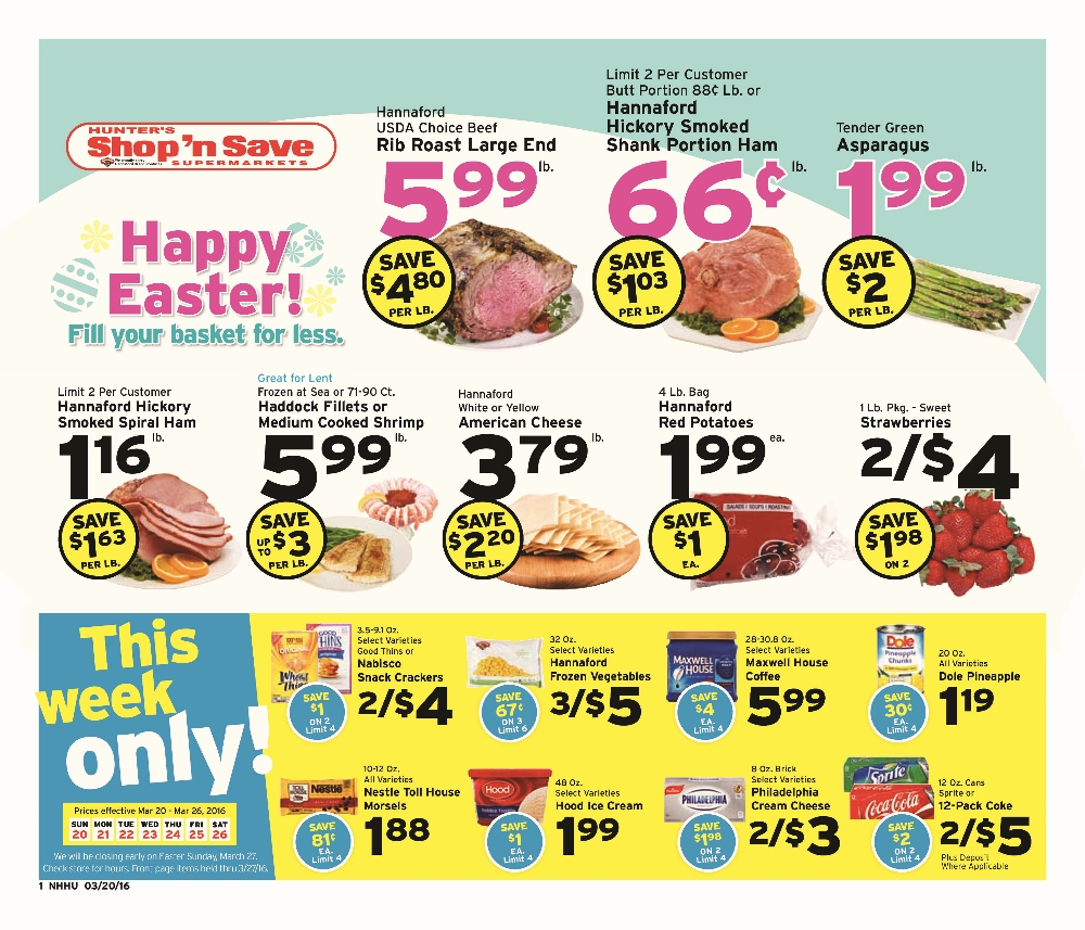 Shop n save clipart clip black and white download Weekly Sales Flyer for 3-20-16 | Hunters Shop n Save clip black and white download