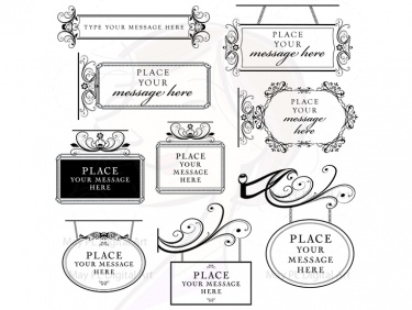 Shop sign clipart picture royalty free stock Vintage Signage Digital Frame Clip Art, Calligraphy Flourish Sign Clipart,  Oval Rectangle Ornaments, Scrapbooking Supplies 10187 | Meylah picture royalty free stock