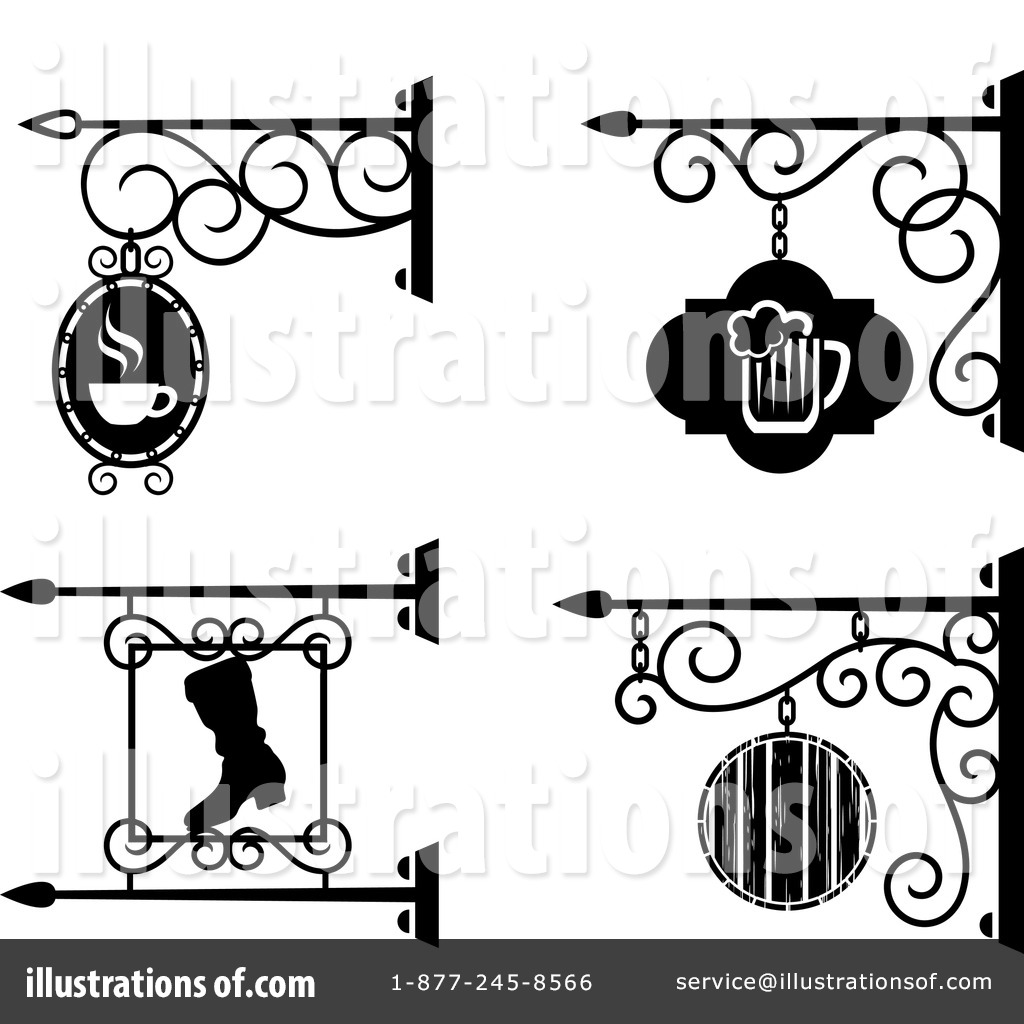 Shop sign clipart picture freeuse Shop Sign Clipart #1146274 - Illustration by Vector Tradition SM picture freeuse