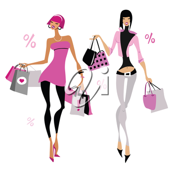 Shopaholic clipart vector freeuse download Shopaholic clipart images and royalty-free illustrations ... vector freeuse download