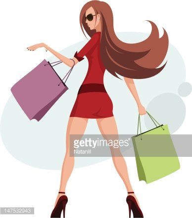 Shopaholic clipart vector freeuse download Shopaholic premium clipart - ClipartLogo.com vector freeuse download