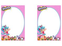 Shopkins banner clipart jpg transparent library Shopkins invitation. Made for free: Look me up on Facebook ... jpg transparent library