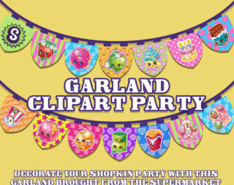 Shopkins banner clipart banner royalty free download Shopkins clipart | Etsy banner royalty free download