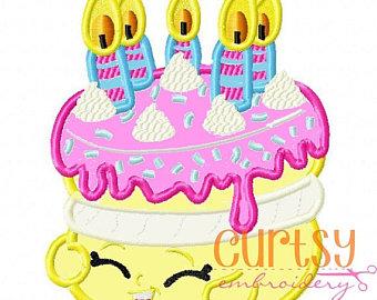 Shopkins birthday cake clipart banner black and white download Shopkins cake | Etsy banner black and white download