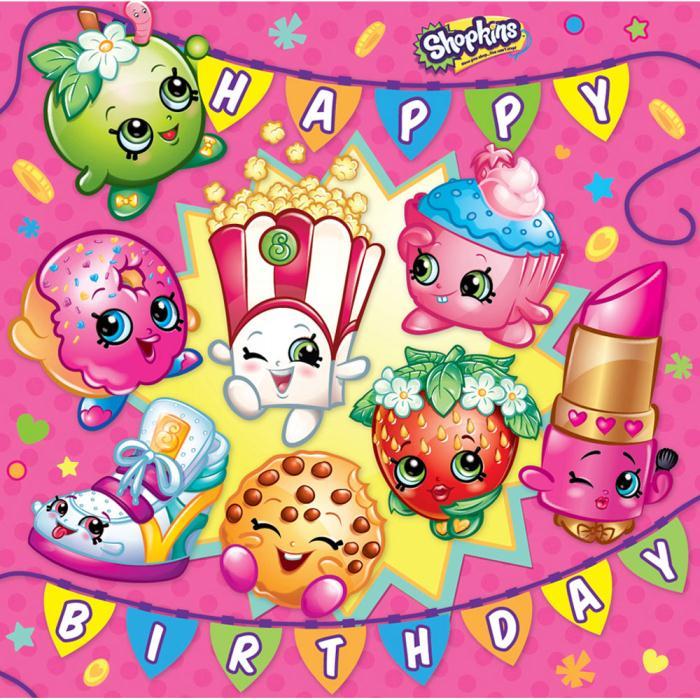 Shopkins birthday clipart image stock Happy Birthday Shopkins Birthday Card image stock