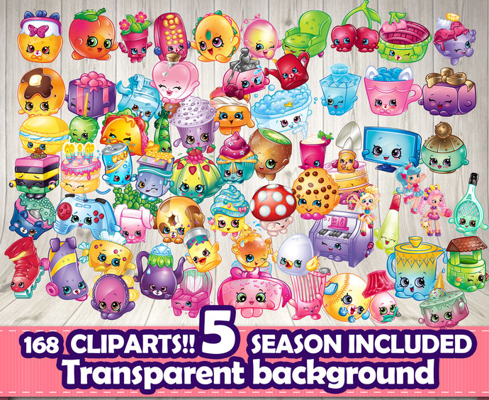 Shopkins clipart background picture royalty free download SHOPKINS CLIPART 168 differents- Shopkins | Decorationsleon picture royalty free download