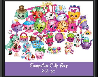 Shopkins clipart background clip art free stock Shopkins clipart | Etsy clip art free stock