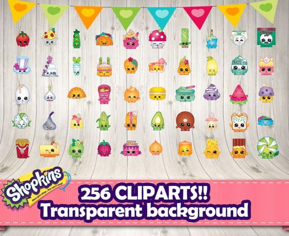 Shopkins clipart background clip freeuse INSTANT DOWNLOAD SHOPKINS CLIPART! They are perfect for ... clip freeuse