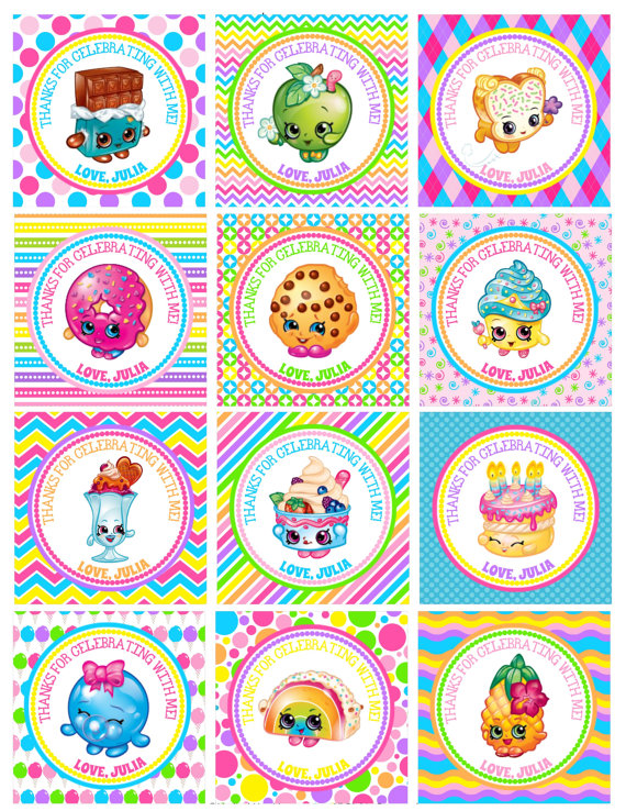 Shopkins clipart birthday vector download DIY Personalized Shopkins Toy Birthday Favor Hang by susanefird ... vector download