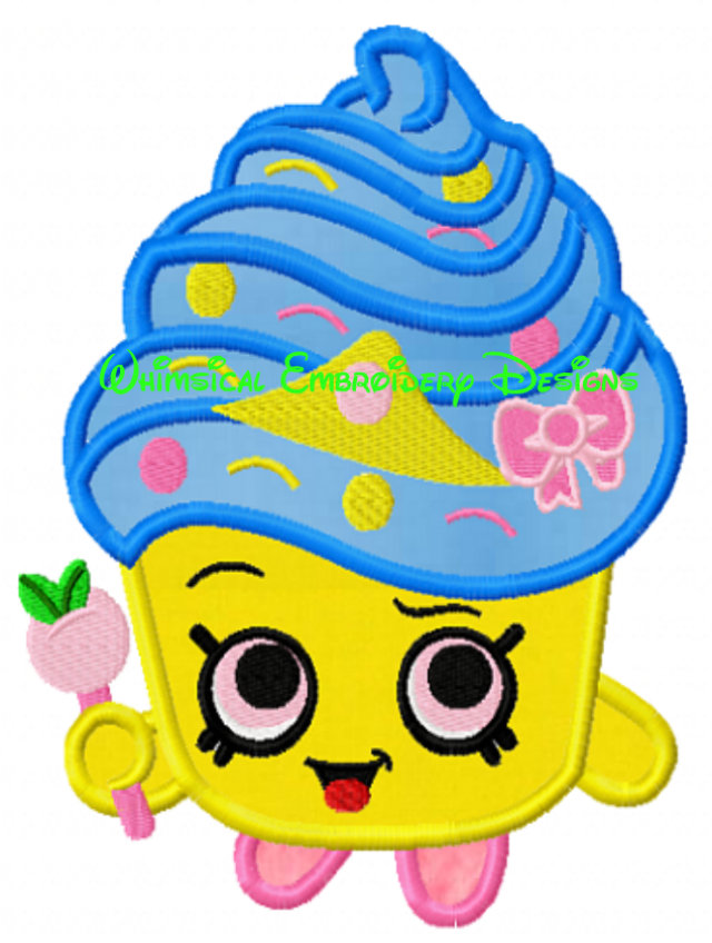 Shopkins clipart cupcake queen svg freeuse library Cupcake Queen Shopkins Machine Embroidery Applique Design INSTANT ... svg freeuse library